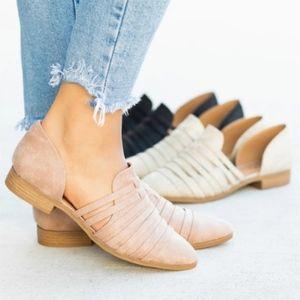 Shoes - LYDIA Slip on Flats- STONE